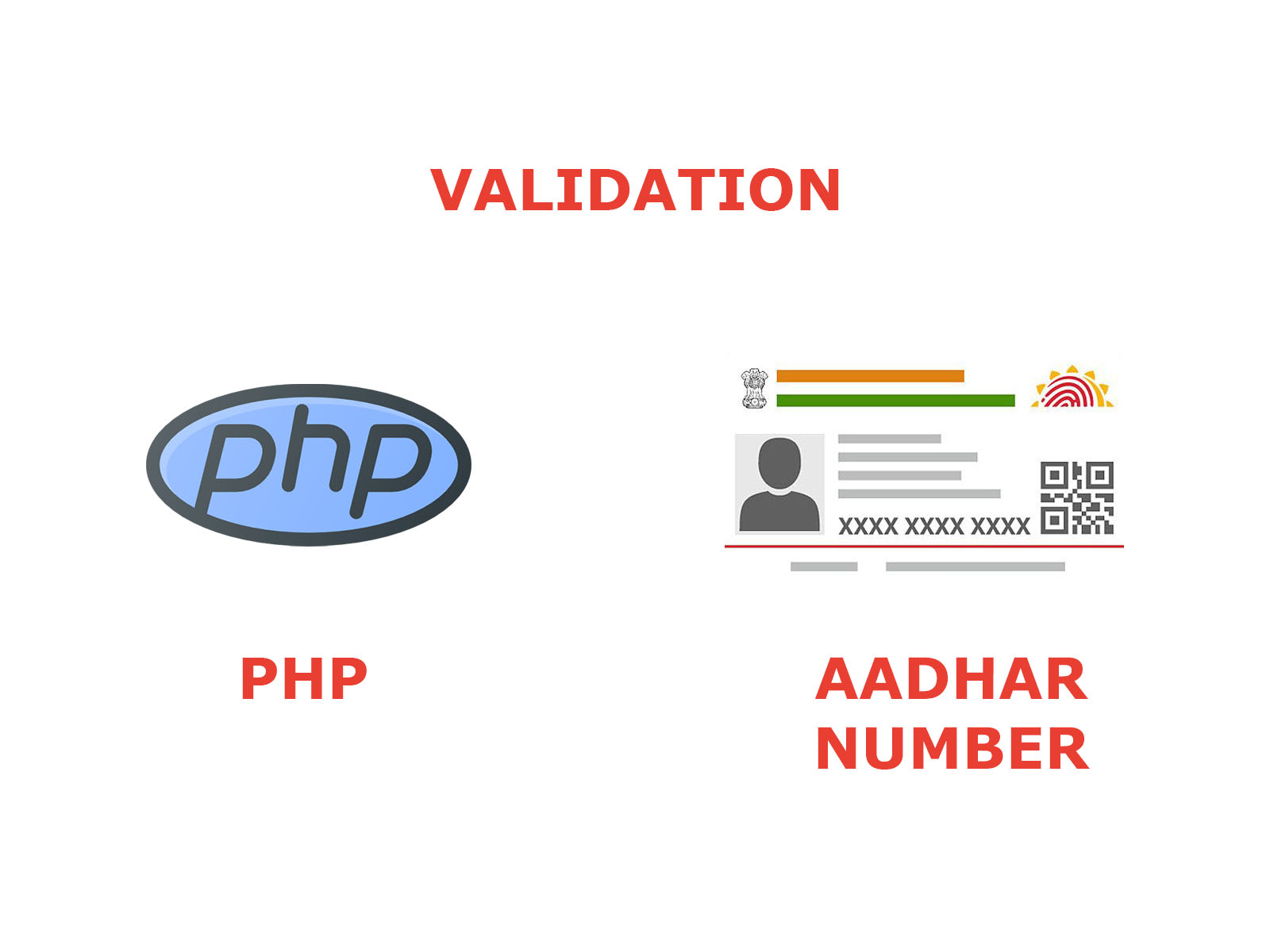Aadhar number verify with PHP (offline)