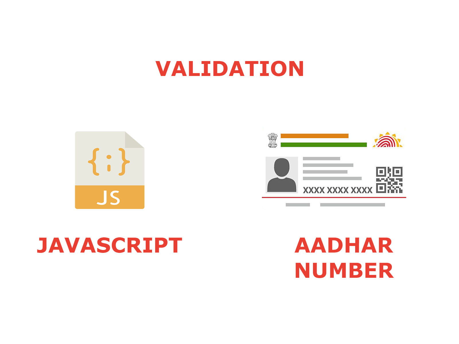 Aadhar number verify with JAVASCRIPT (offline)