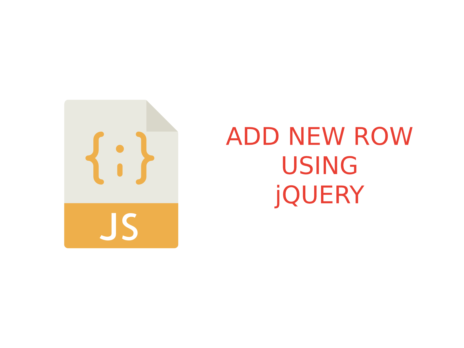 Add new row in html table using jQuery
