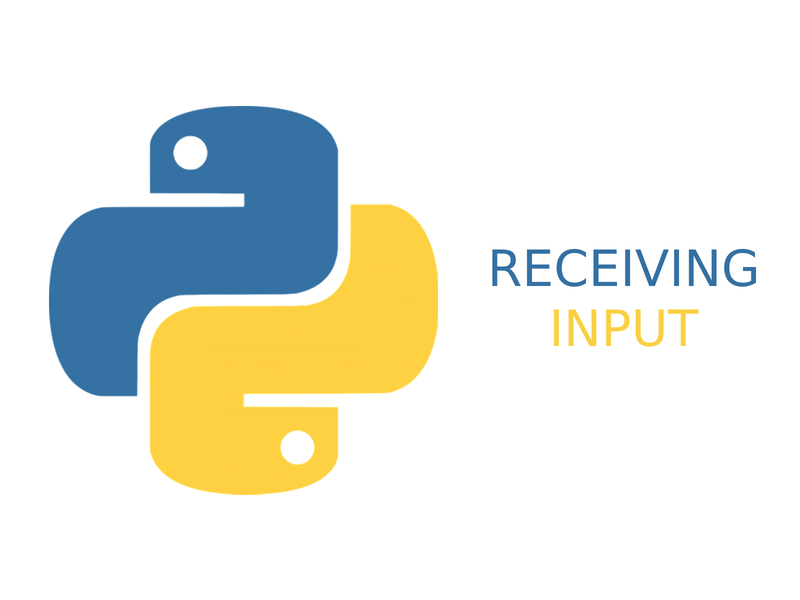 Receiving input in python