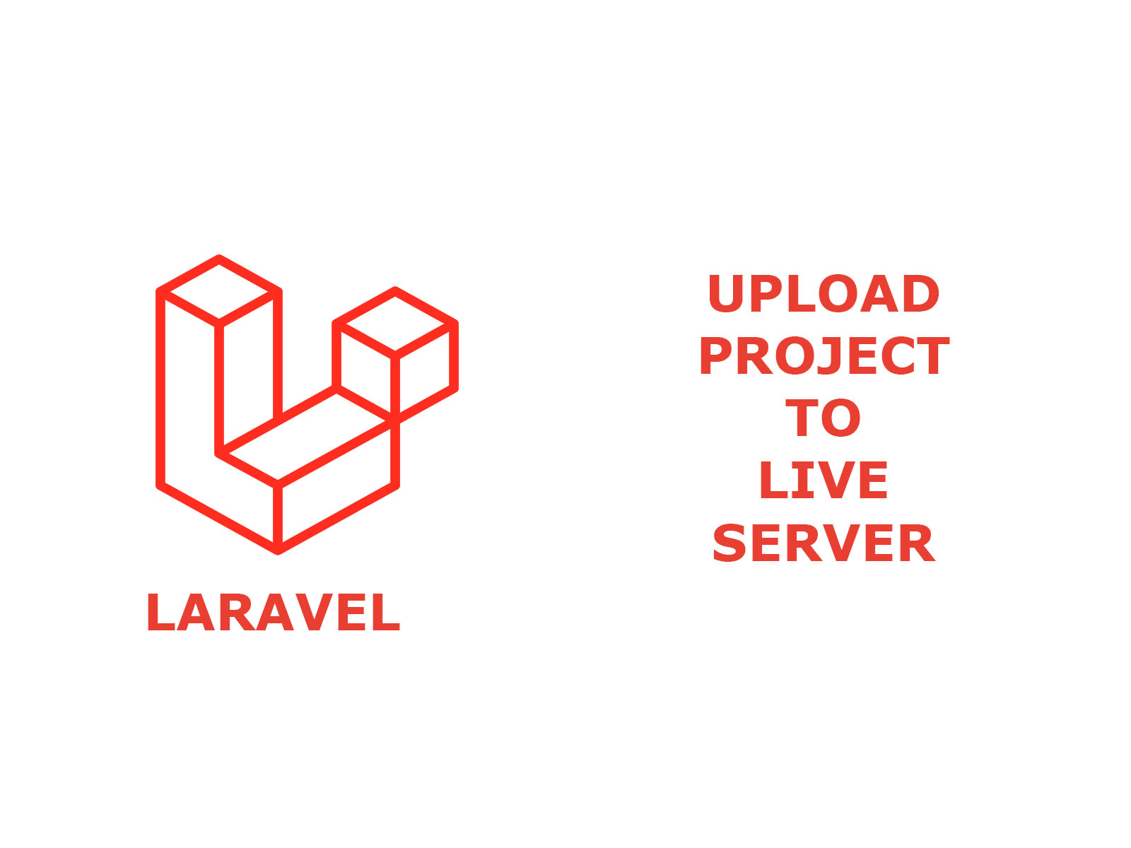 Laravel project upload to live server